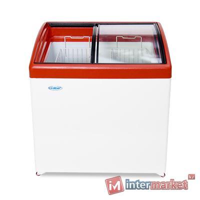Морозильный ларь Снеж МЛГ-350 красный глянец
