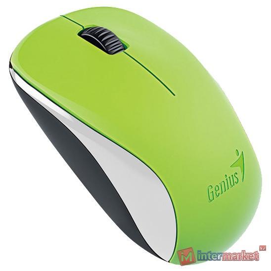 Мышь беспроводная Genius NX-7000, USB, Green