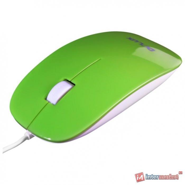 Мышь Delux DLM-111OUG 3D, (Зелёный)
