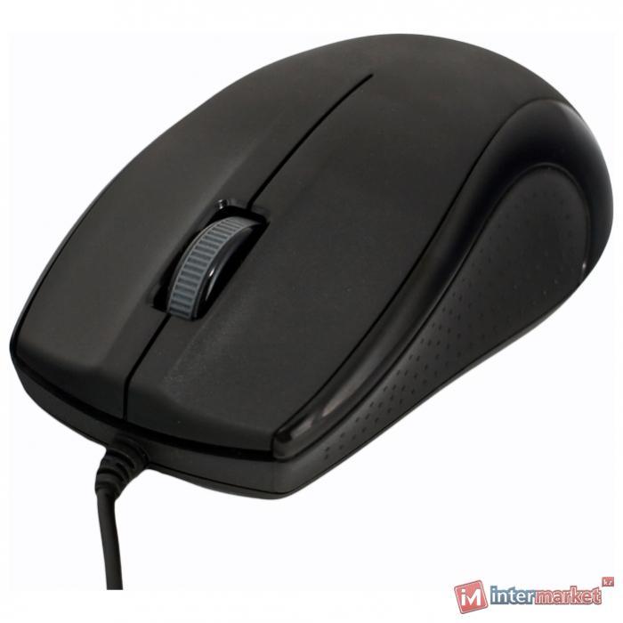 Мышь Delux DLM-375, Black, USB+PS/2