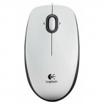 Мышь Logitech Mouse M100 White USB