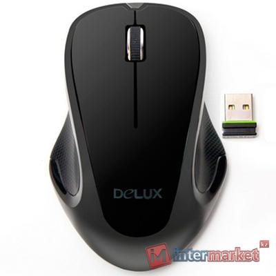 Мышка беспроводная USB Delux DLM-389OGB, Black