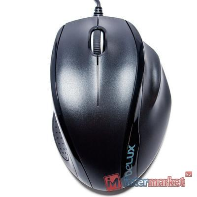 Мышка проводная USB Delux DLM-396OUB, Black