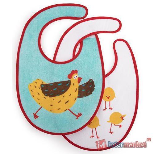Набор нагрудников Happy Baby Set Terry Bibs Chiken 2 шт