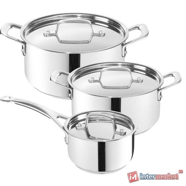 Набор посуды Tefal A702S674 Intuition (кастрюля 20см\2.9 л, кастрюля 24см\4.9 л,ковш 16см\1.3 л)