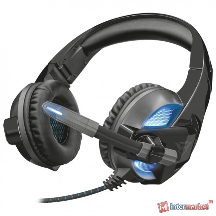 Наушники гарнитура игровая Trust GXT 410 Rune Illuminated Headset с подсветкой