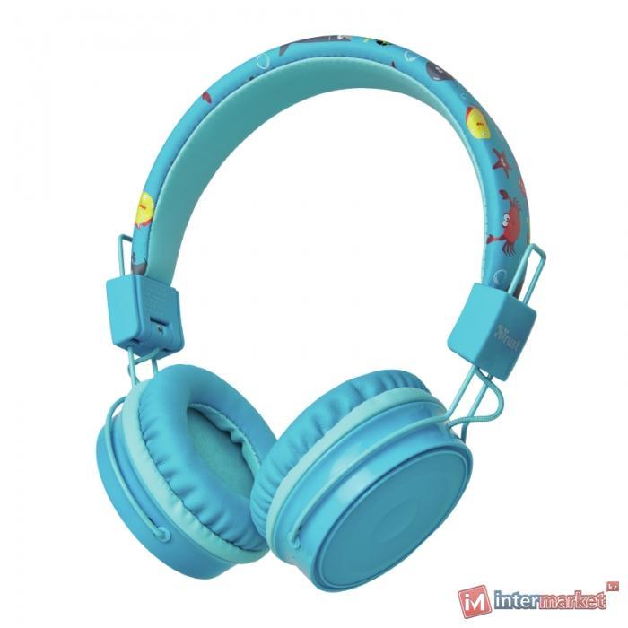 Наушники-накладные проводные Trust Comi Bluetooth голубой