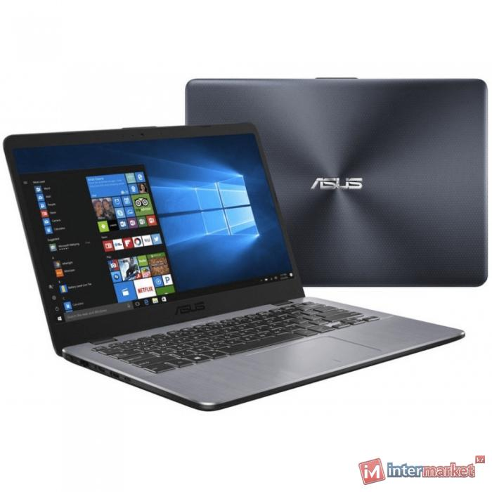 Ноутбук ASUS X405UQ-BV247T (Core i7-7500U/14.0 HD/4GB+8GB/1TB/GeForce 940MX 2GB/noODD/Windows 10/DARK GREY)