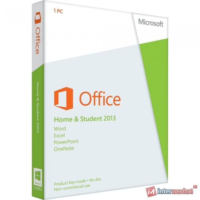 Miscrosoft Office Home and Student 2013 (79G-03739) (x32/x64, RU, Kazakhstan Only, EM DVD, No Skype)