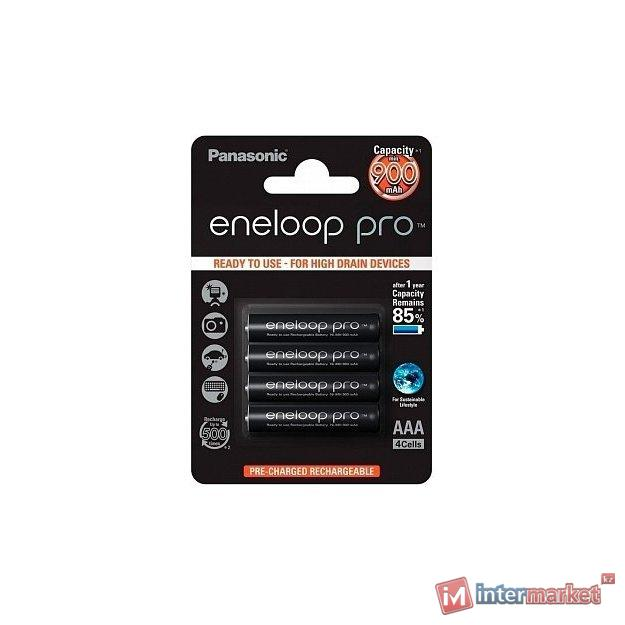 Аккумуляторные батарейки Panasonic eneloop Pro AAA 900 mAh/4BP