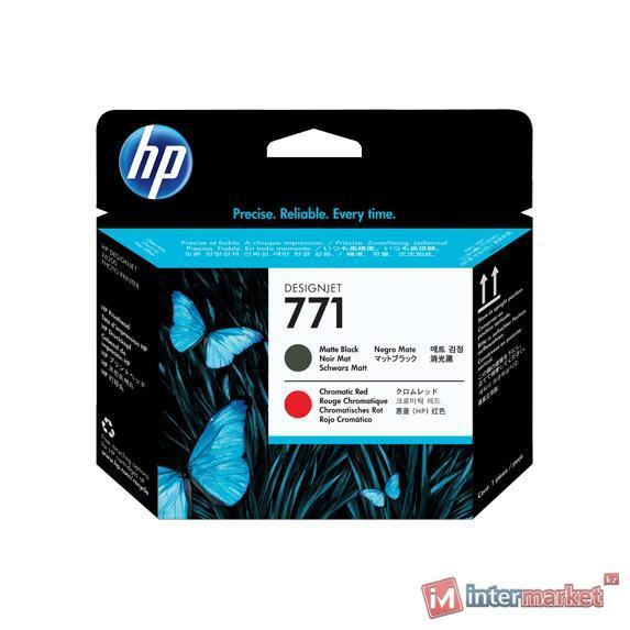 Печатающая головка HP 771 Designjet (CE017A), Matte Black/Chromatic Red