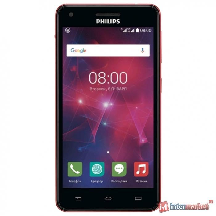 Смартфон Philips Xenium V377, Black Red