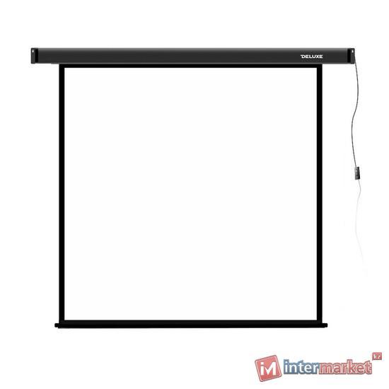 Проекционный экран, Deluxe, DLS-E305x, Моторизированный, 305x305, Matt white, Чёрный