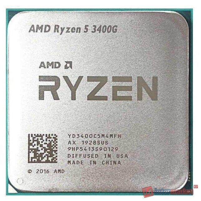 Процессор AMD Ryzen 5 3400G 3,7ГГц (4,2ГГц Turbo) AM4, 12nm, 4/8/11, L2 2Mb, L3 4Mb, 65W, with Radeon™ RX Vega 11 Graphics, OEM
