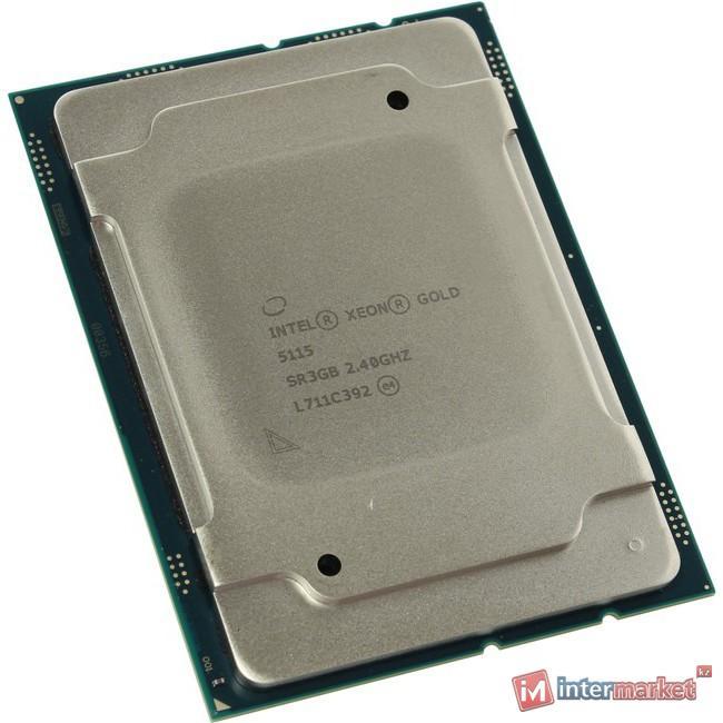 Процессор Intel XEON Gold 5115, Socket 3647, 2.40 GHz (max 3.20 GHz), 10 ядер, 20 потока, 105W, tray