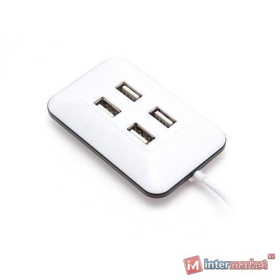 Расширитель USB, Deluxe, DUH4001WH, Белый