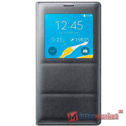 Чехол Samsung S View Cover (Padding) for Note 4 EF-CN910BCEGRU (Charcoal)