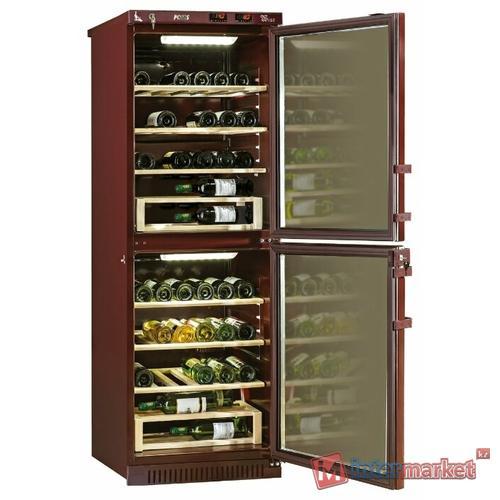Винный шкаф Pozis ШВД-78 вишневый