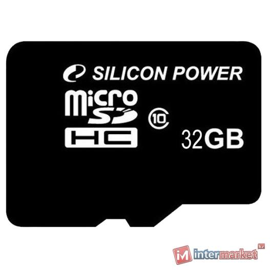 Карта памяти Silicon Power microSDHC Class10 Retail, 32 Gb