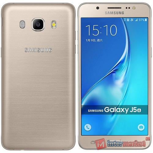 Смартфон Galaxy J5 (2016) 16Gb, gold