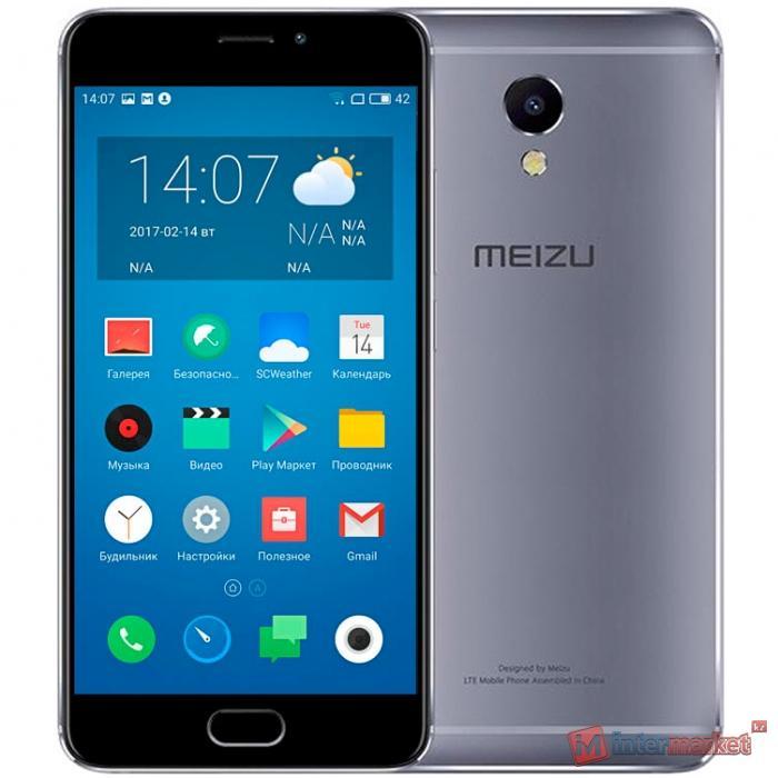 Смартфон Meizu M5 Note 16Gb, Grey