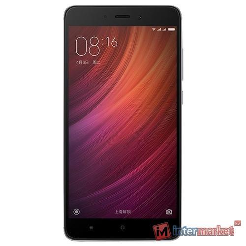 Смартфон Xiaomi Redmi Note 4 3/32GB/Snapdragon 625//13+5MP/4100mAh/Duos, Серый