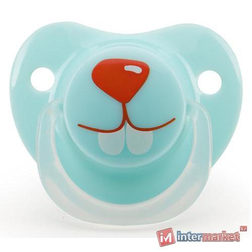 Соска Happy Baby Soother 12-24 мес ортодонтической формы Кролик