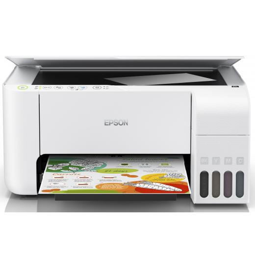 Струйное МФУ Epson L3156 (White) CIS, A4, принтер/сканер/копир, 5760x1440dpi, 33стр/мин, USB 2.0, Wi Fi, ЖК Экран