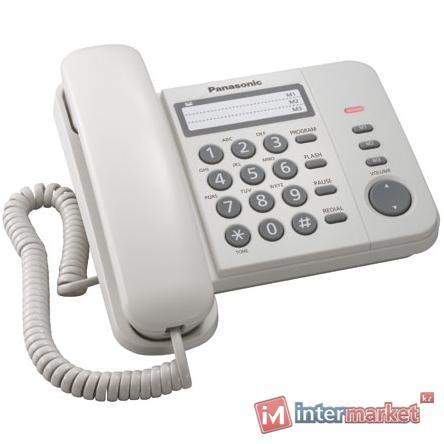 Проводной телефон PANASONIC KX-TS 2352CAW, Белый