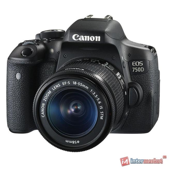 Цифровой фотоаппарат Canon EOS 750D EF-S 18-55 IS STM