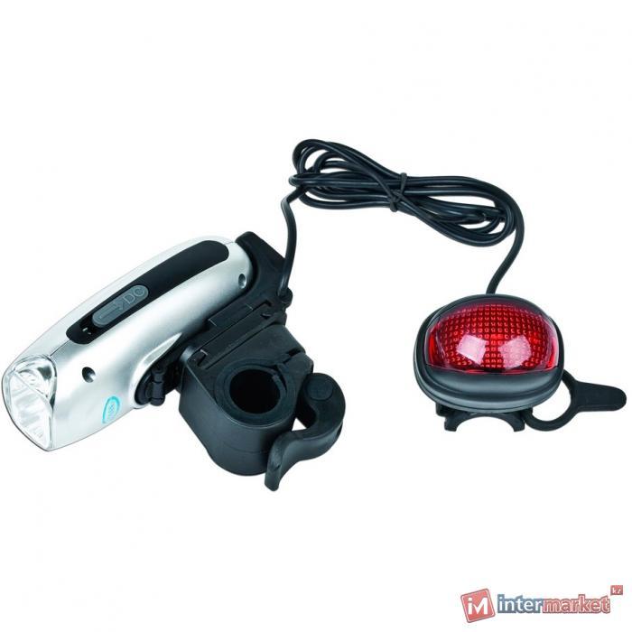 Зарядка ручная велосипедная + фонари Energenie, EG-PC-005
