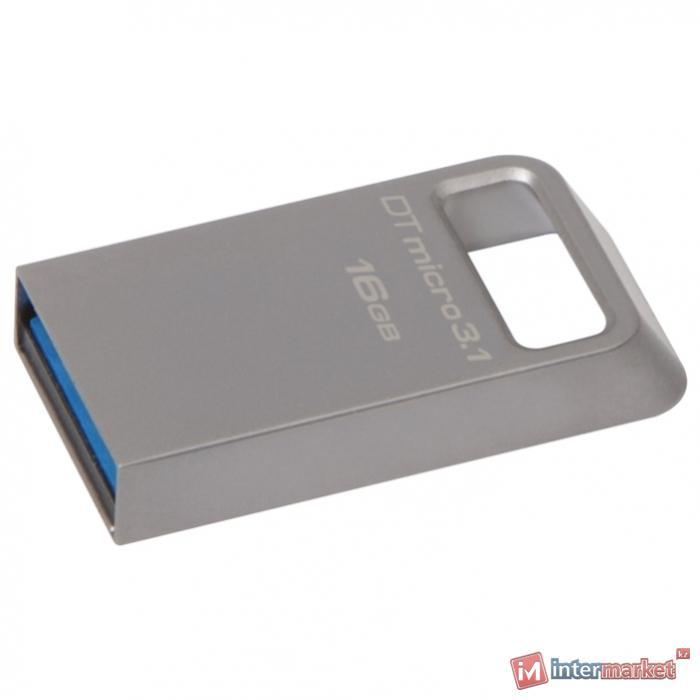 Флешка USB Kingston, Micro, 16GB, silver