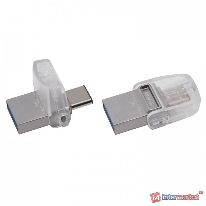 Флешка USB Kingston, MicroDuo, 64GB