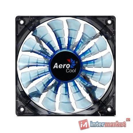 Кулер AeroCool Shark Fan Blue Edition 14cm