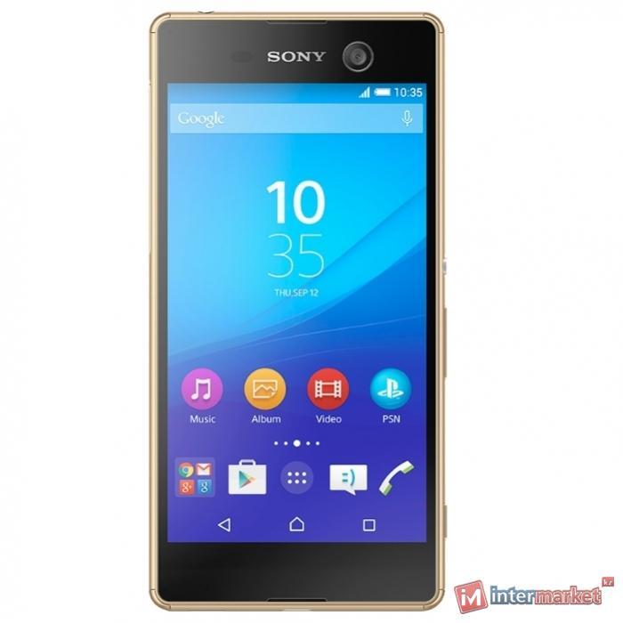 Смартфон Sony Xperia M5 Dual, Gold